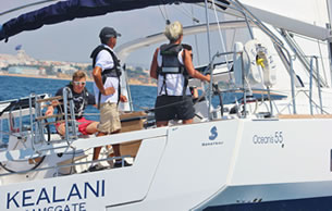 Premium sail training on board our luxury yacht
